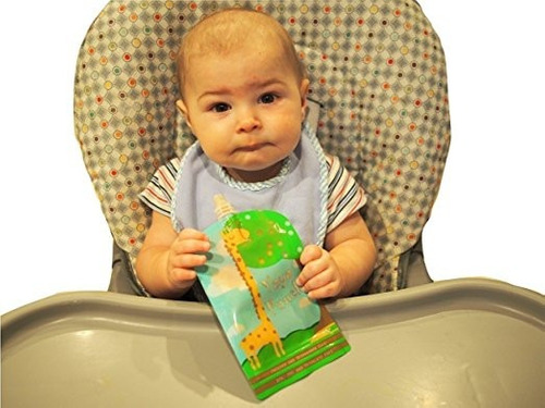 bolsas reutilizables para pures papillas caseras bebés 50 un