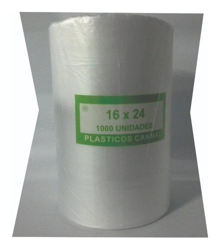 bolsas rollo para comercio 12x24 - 1000 unidades