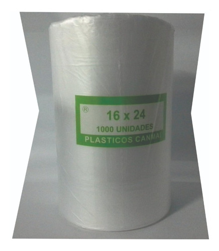 bolsas rollo para comercio 20x60 pan - 1000 unidades