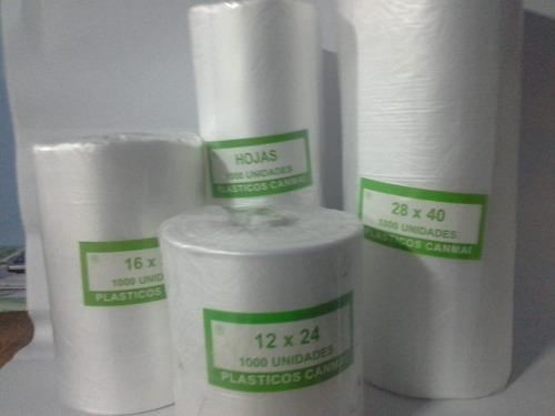 bolsas rollo para comercio 28x40 - 1000 unidades
