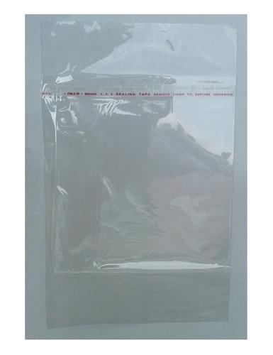 bolsas transparentes con pega 100 unidades