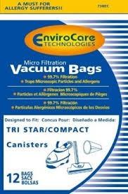bolsas vacío compacto/tristar microfiltración con cierre