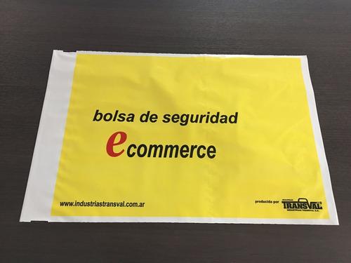 bolsa/sobre de alta seguridad ecommerce bicapa 25x32cm x100u