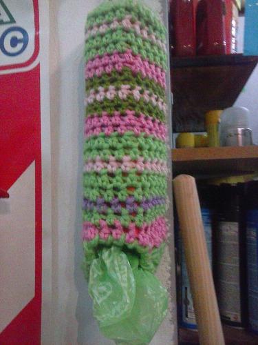 bolsero porta bolsa crochet
