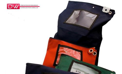 bolsin de seguridad para valores rojo 30x40x7 cm - 5 unid