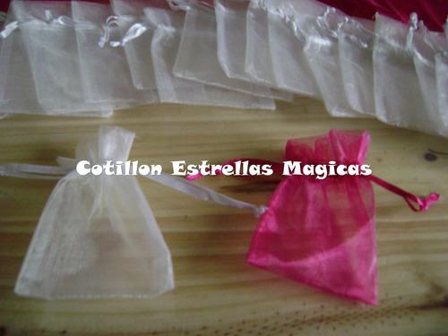 bolsita bolsa organza tul 13x18 souvenirs cotillon bautismo