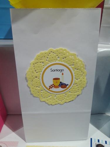 bolsita golosinera con blonda y diseño personalizado