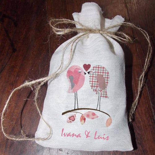 bolsita para civil souvenir para arroz personalizadas
