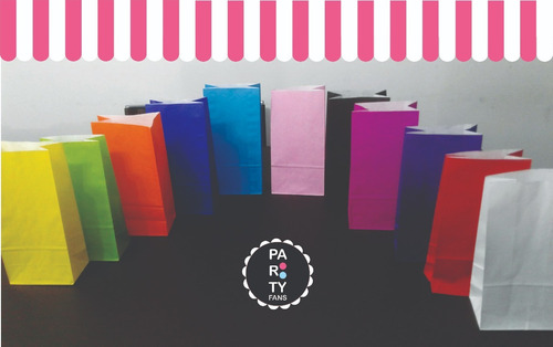 bolsitas bolsas souvenir cumpleaños papel sin lunares x50 un
