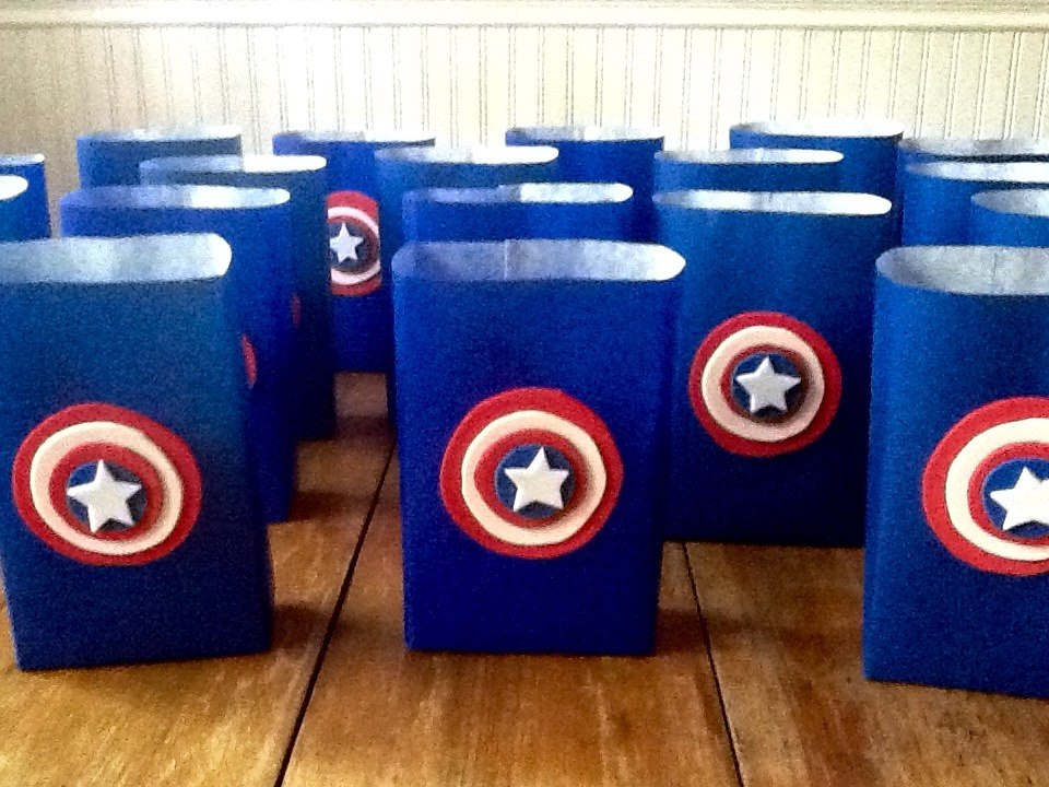 cb58bf297 Bolsitas Capitán América Artesanales Pack 5 Unid - $ 120,00 en ...