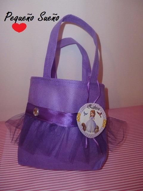 4be9c6672 Bolsitas Cumpleaños Personajes Tela Princesa Sofia - $ 25,00 en ...