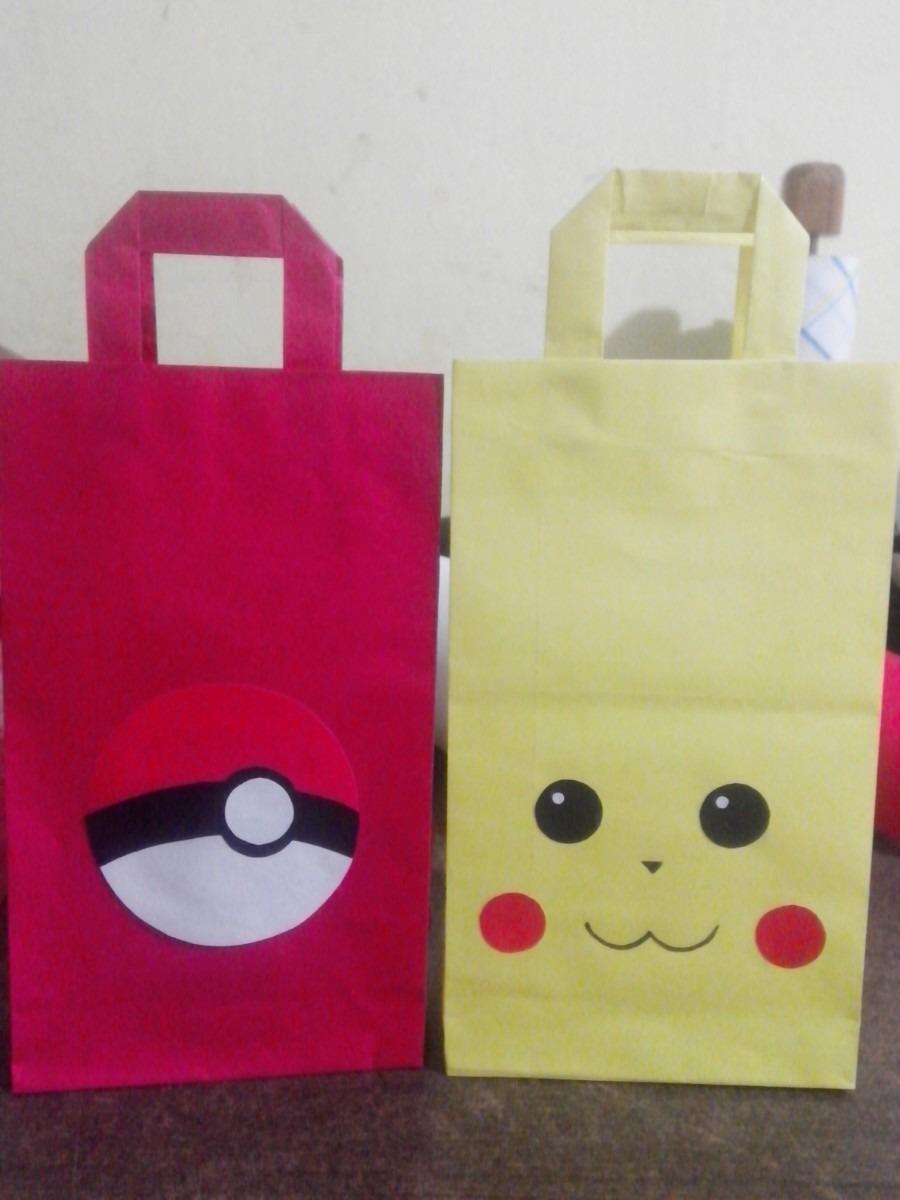 42ba4560a Bolsitas De Papel Para Cumpleaños Pokemon - $ 120,00 en Mercado Libre