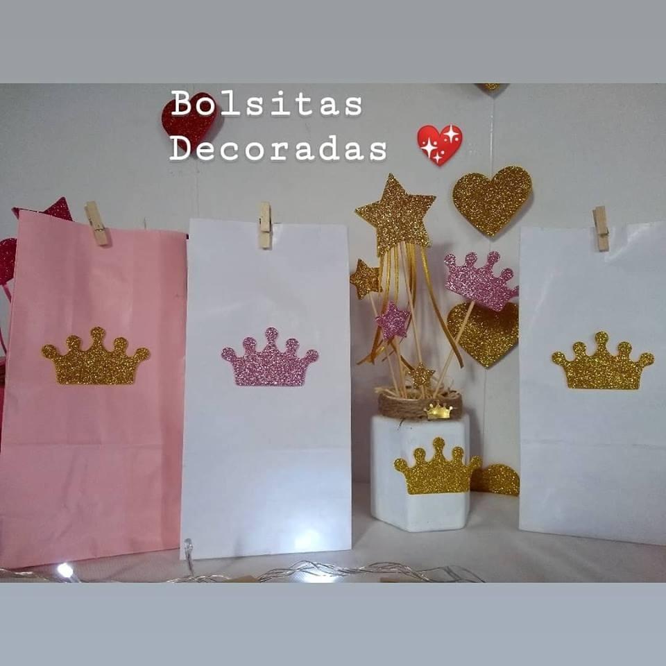 0019ede2b Bolsitas Decoradas Cumpleaños Princesa - $ 12,00 en Mercado Libre