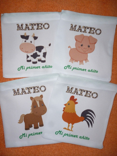 bolsitas golosinera personalizadas animales  selva granja