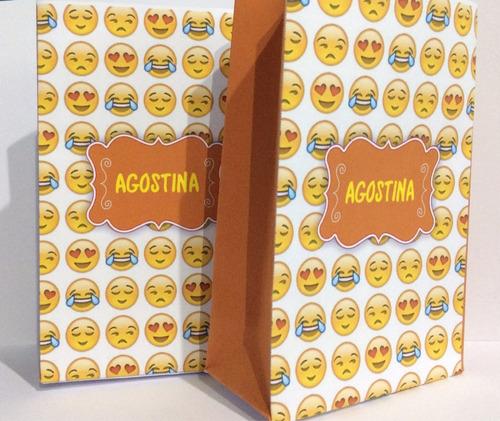 bolsitas golosineras emojis emoticones x 10 u personalizadas