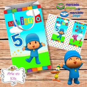 23f5d33f9 Bolsitas Pocoyo - Souvenirs para Cumpleaños Infantiles Bolsitas en Mercado  Libre Argentina