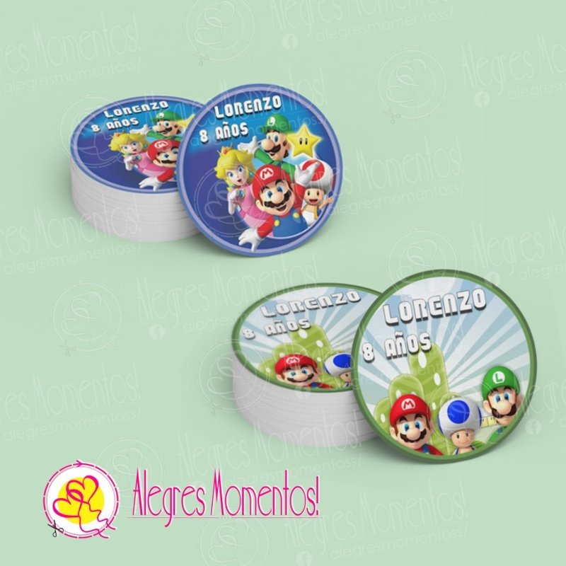 393939823 Bolsitas Golosineras Super Mario Bross X 12 Unidades - $ 420,00 en ...