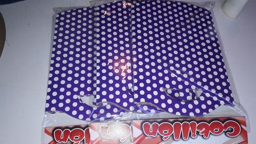 bolsitas golosineras violeta lunar blco!! calidad superior!