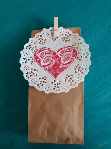 bolsitas papel madera decoradas souvenirs candy bar