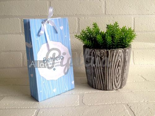 bolsitas para souvenir bautismo + kit imprimible de regalo