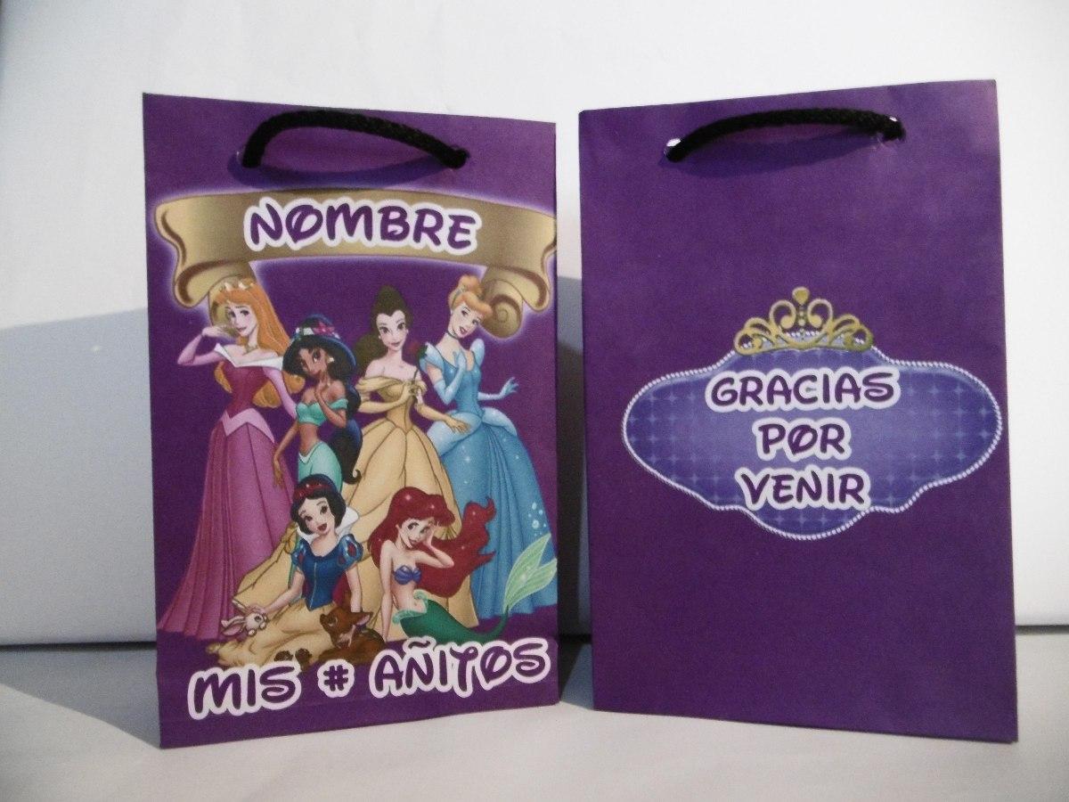 74263d974 Bolsitas P/cumpleaños. Princesas Disney X Unidad - $ 16,00 en ...