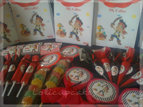 bolsitas personalizadas impresas jake y los piratas candy