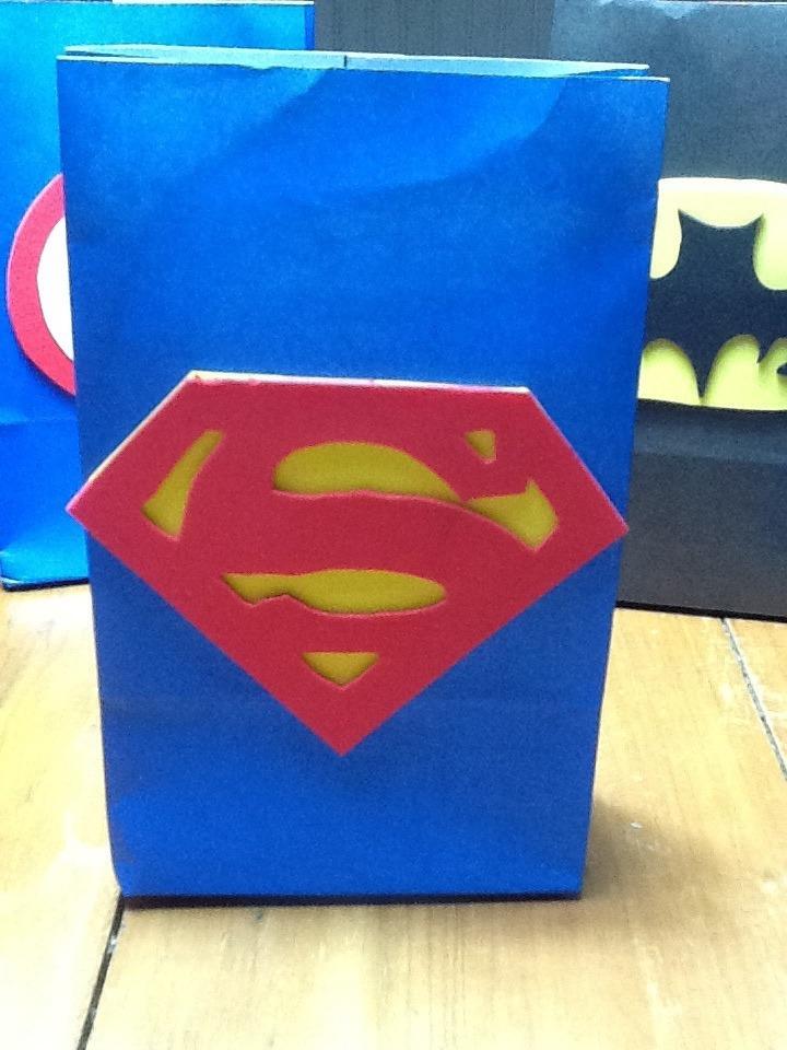 fae849a19 Bolsitas Superman Artesanales Pack 5 Unid - $ 120,00 en Mercado Libre