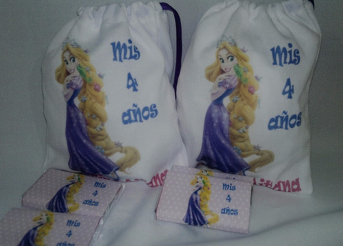 bolsitas tela estampadas con chocolates personalizados!
