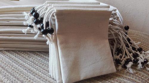 bolsitas tipo saco crea natural 100% algodon