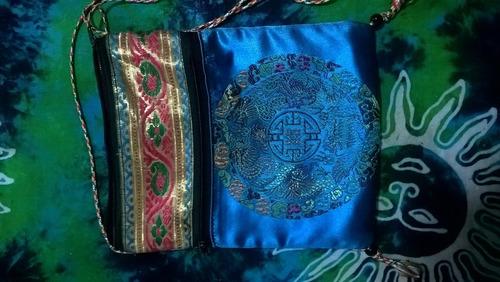 bolsito de tela tibetana, 18 x 14 cm. estado impecable