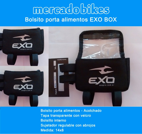 bolsito porta alimentos exo box (tapa transparente)