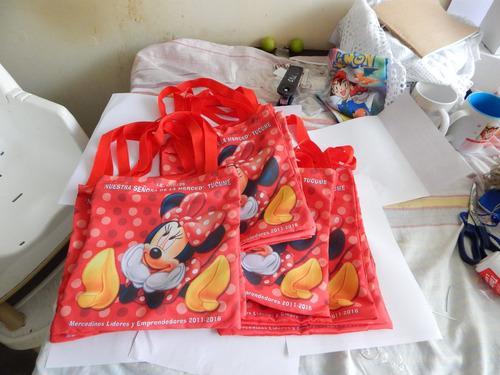 bolsitos mochilitas sorpresa personalizados - entrega 2 dias