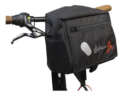 bolso al manubrio para bicicleta  halawa frontal
