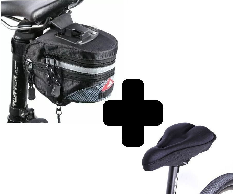 f2cf88ffe79 Bolso Alforja Para Bicicleta + Forro Cubre Asiento - $ 3.490 en ...