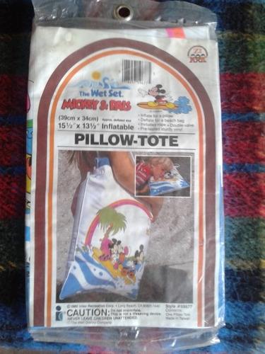bolso almohada inflable niños mickey verano playa piscina