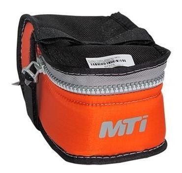 bolso bajo asiento bicicleta mti boost naranja - racer bikes