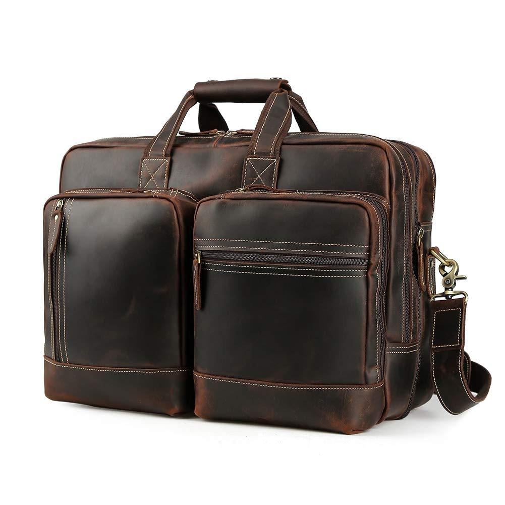 19fb7bbc bolso bandolera para hombre, estilo vintage, de piel, mul. Cargando zoom.