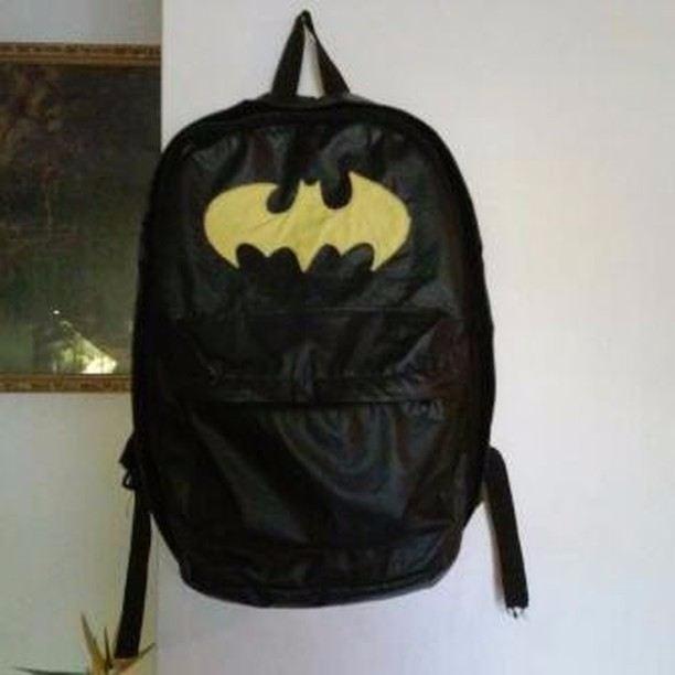 Morral Backpack Cuero Batman Bolso Semi 7yYf6bgv