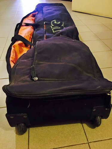 bolso boardbag con ruedas kite snowboard viaje