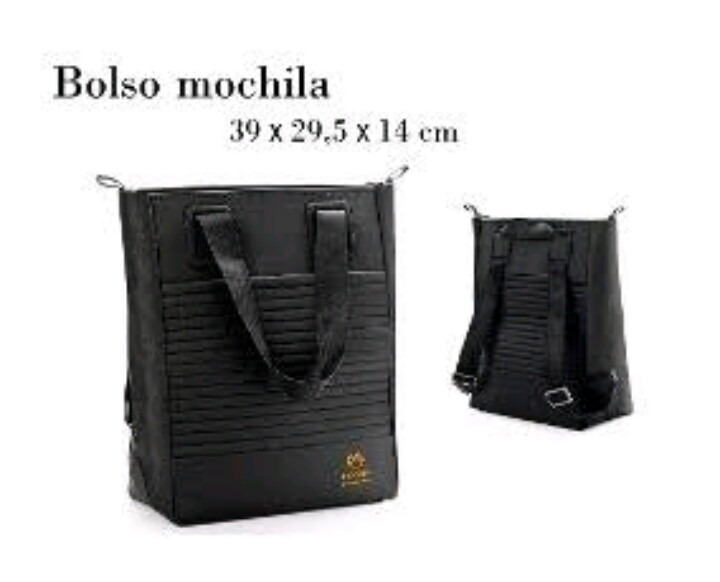 diseño de calidad 427f9 5d0ca Bolso Bolsa Mochila Natura Negro