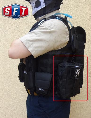 bolso botiquin / multiuso molle negro de semper fi tactical®