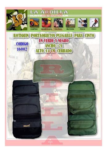 bolso botiquin neceser militar - con pasa cinto - campaña