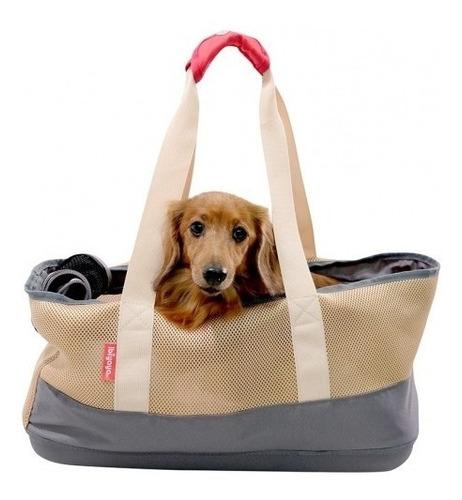 bolso breathable dachshund pet carrier - khaki