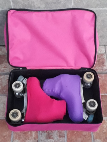 bolso cajon p/patin artistico estampado (opc personalizable)