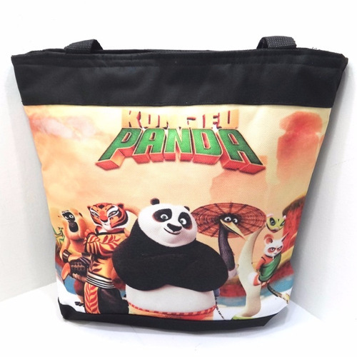 bolso cartera 33x34 kung fu panda disney personaje regalo