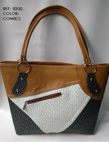 bolso cartera dama  combinada envio gratis moda colombiana