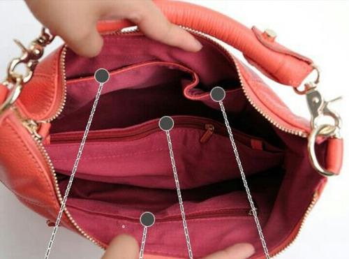 bolso cartera de cuero genuino de res de moda importado