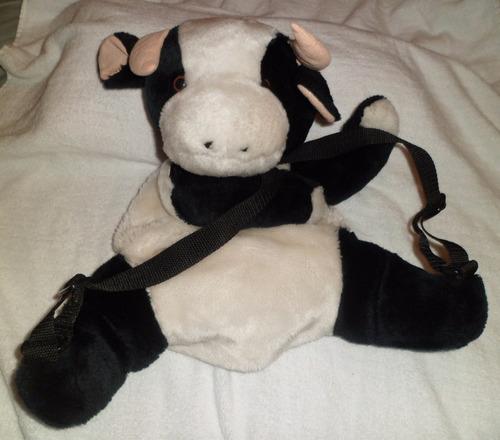 bolso cartera de peluche de vaquita para niñas y jóvenes