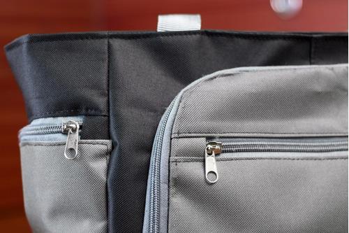 bolso / cartera deportiva negro y gris para dama. gimnasio