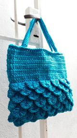 3a2b42e20 Bolso Cartera Escamas Artesanal Trapillo Tul Tejido Crochet · 3 colores